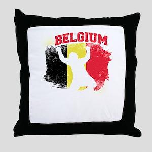Football Worldcup Belgium Belgians So Throw Pillow