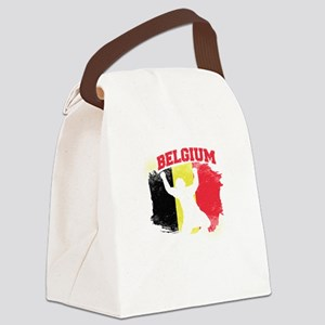 Football Worldcup Belgium Belgian Canvas Lunch Bag