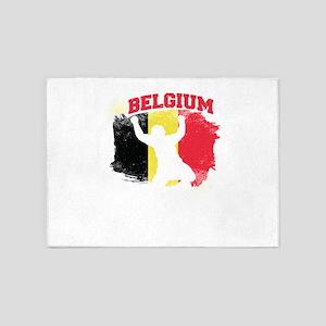 Football Worldcup Belgium Belgians 5'x7'Area Rug