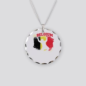 Football Worldcup Belgium Be Necklace Circle Charm