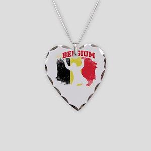 Football Worldcup Belgium Bel Necklace Heart Charm