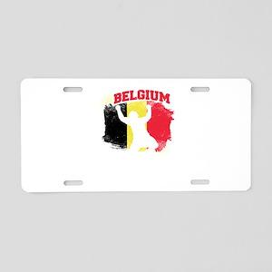 Football Worldcup Belgium B Aluminum License Plate