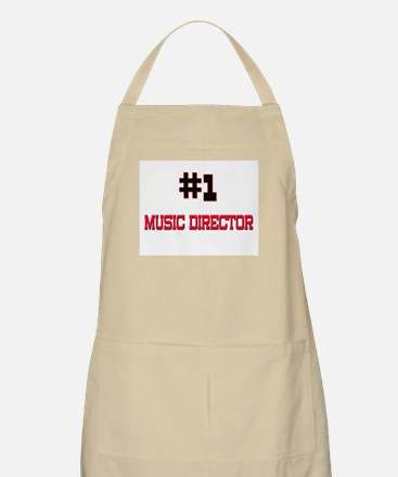 Number 1 MUSIC DIRECTOR BBQ Apron