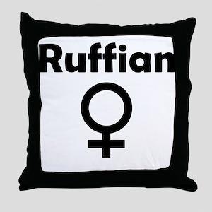 Ruffian Female Symbol Throw Pillow
