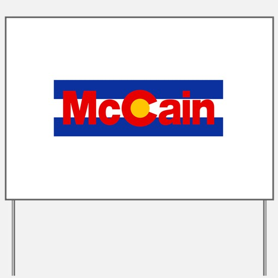 Colorado for McCain Yard Sign