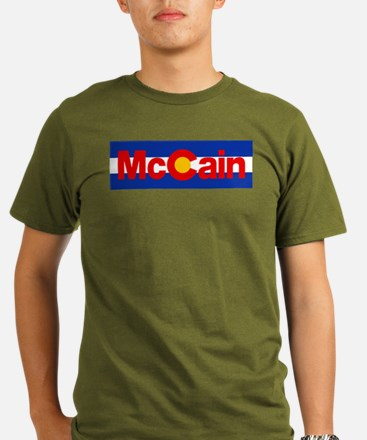 Colorado for McCain Organic Men's T-Shirt (dark)