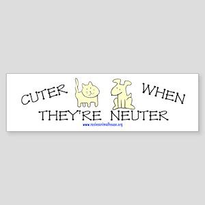 Cuter Bumper Sticker