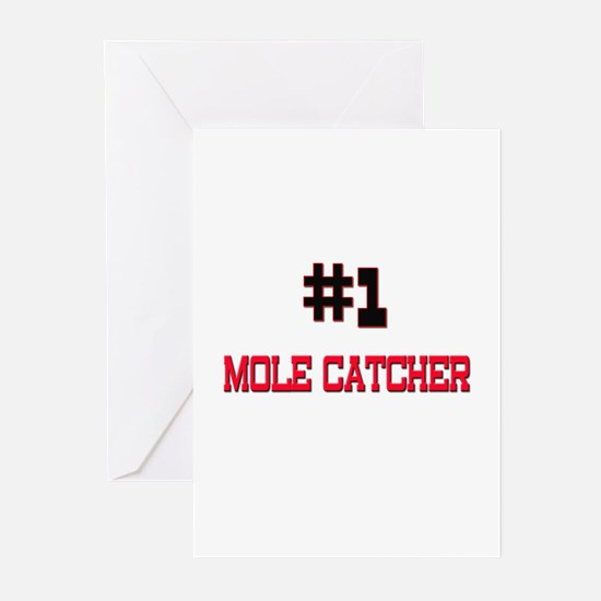Number 1 MOLE CATCHER Greeting Cards (Pk of 10)
