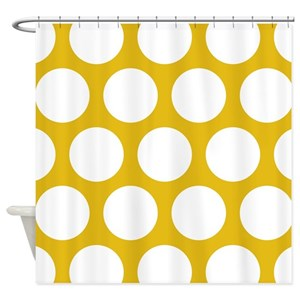 Large Polka Dot Shower Curtains