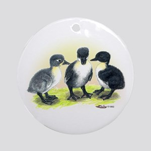 Swedish Duck Ducklings Ornament (Round)