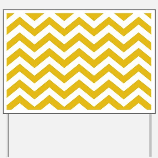 Mustard Yellow Chevron Pattern Yard Sign