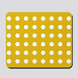 Mustard Yellow Polka Dots Mousepad