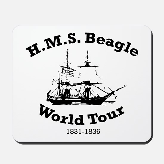 HMS Beagle world tour Mousepad