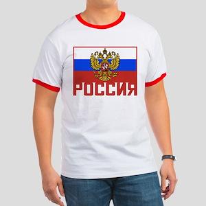 Russian Flag Ringer T