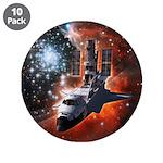 "Hubble Service Mission 4 3.5"" Button (10 pack)"