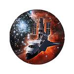 """Hubble Service Mission 4 3.5"""" Button"""