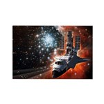 Hubble Service Mission 4 Rectangle Magnet (100 pac