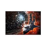 Hubble Service Mission 4 Rectangle Magnet