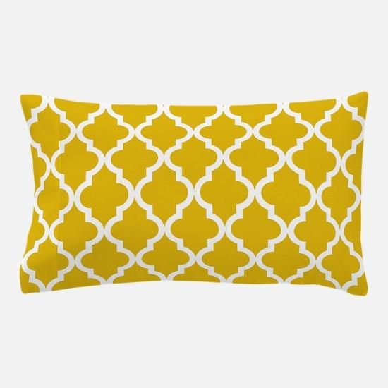 Mustard Yellow Moroccan Pattern Pillow Case