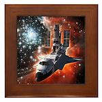 Hubble Service Mission 4 Framed Tile