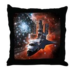 Hubble Service Mission 4 Throw Pillow