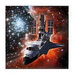 Hubble Service Mission 4 Tile Coaster