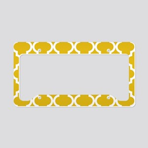 Mustard Yellow Moroccan Patte License Plate Holder