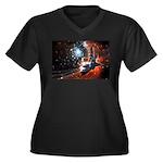 Hubble Service Mission 4 Women's Plus Size V-Neck