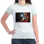 Hubble Service Mission 4 Jr. Ringer T-Shirt