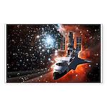Hubble Service Mission 4 Rectangle Sticker 10 pk)