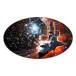 Hubble Service Mission 4 Oval Sticker (50 pk)