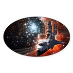 Hubble Service Mission 4 Oval Sticker