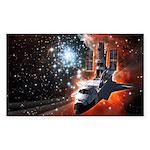Hubble Service Mission 4 Rectangle Sticker