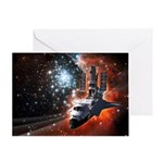 Hubble Service Mission 4 Greeting Card