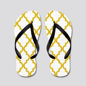 Mustard Yellow Moroccan Pattern (Revers Flip Flops