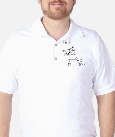 "Darwin Notebook - ""I think"" Golf Shirt"