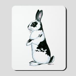Black and White Rabbit Mousepad