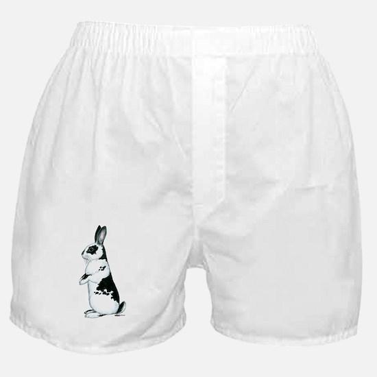 Black and White Rabbit Boxer Shorts