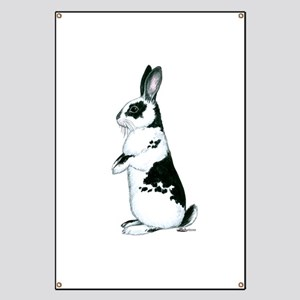 Black and White Rabbit Banner
