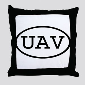 UAV Oval Throw Pillow