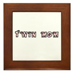 Twin Mom Dots Framed Tile