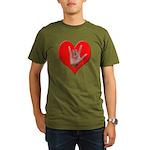ILY Heart Organic Men's T-Shirt (dark)