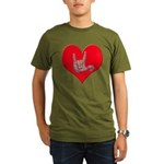 Mom and Baby ILY in Heart Organic Men's T-Shirt (d