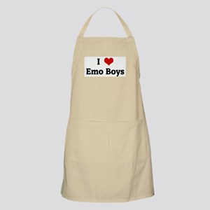 I Love Emo Boys BBQ Apron