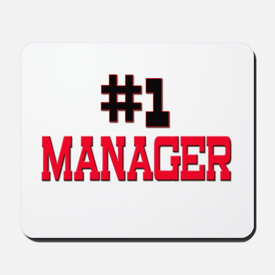 Number 1 MANAGER Mousepad
