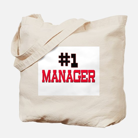 Number 1 MANAGER Tote Bag