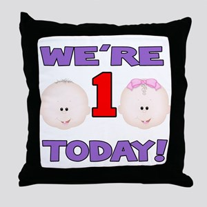 We're 1 Today! Throw Pillow