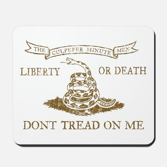 Culpeper Flag (Brown) Mousepad