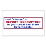Report Corruption Rectangle Sticker 50 pk)