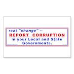 Report Corruption Rectangle Sticker 10 pk)